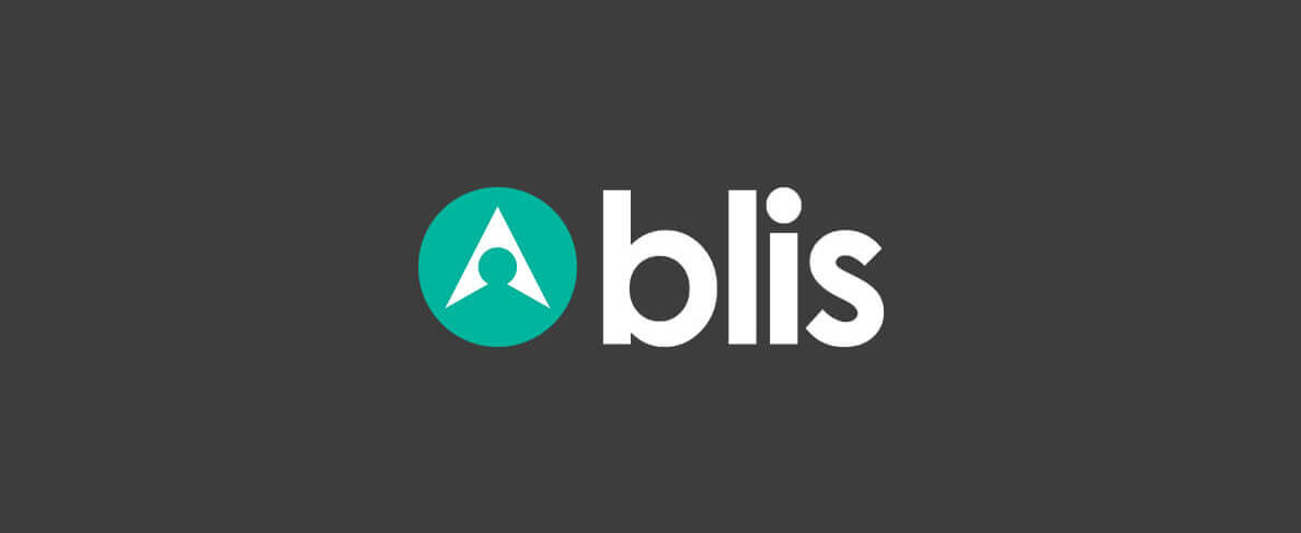 blis logo with grey background