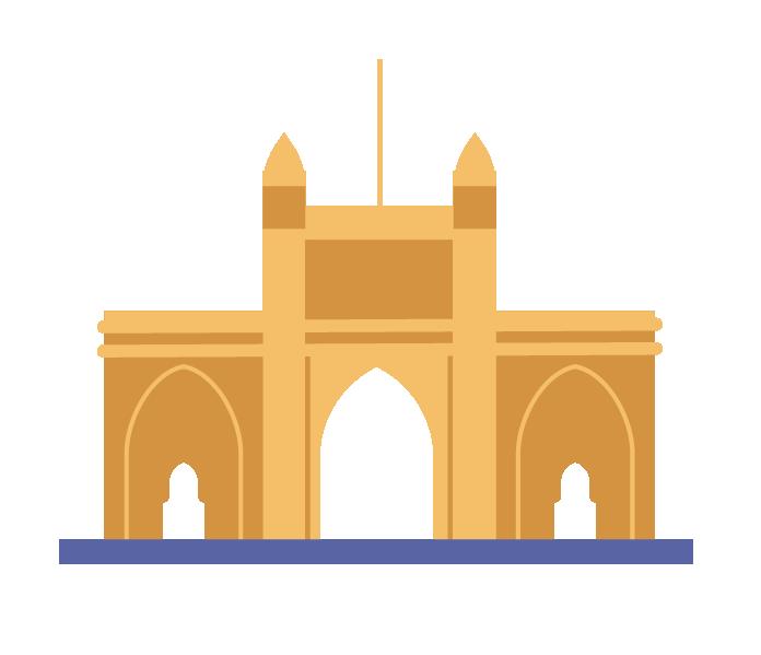 Mumbai bridge illustration